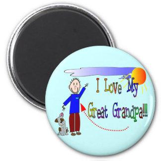 I love my Great Grandpa 6 Cm Round Magnet