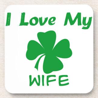 I Love My Irish Coaster