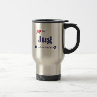 I Love My Jug (Female Dog) Stainless Steel Travel Mug