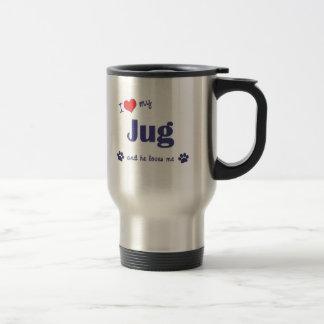 I Love My Jug (Male Dog) Stainless Steel Travel Mug