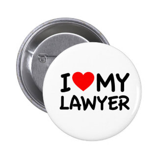 I love my lawyer 6 cm round badge