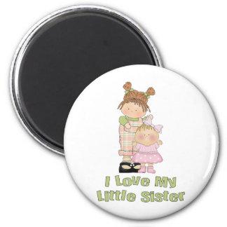I Love My Little Sister Girls 6 Cm Round Magnet