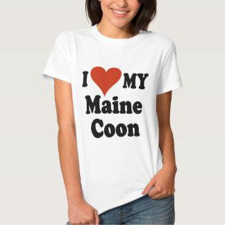 I Love My Maine Coon Cat Merchandise T-shirt