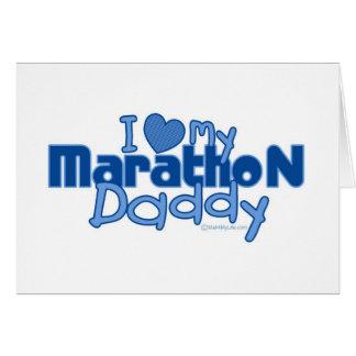 I Love My Marathon Daddy Greeting Card