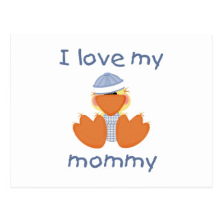 I love my mommy (boy ducky) postcard