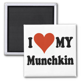 I Love My Munchkin Cat Gifts and Apparel Square Magnet
