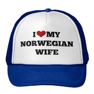 I Love My Norwegian Wife Cap
