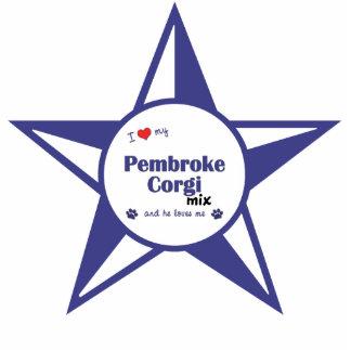I Love My Pembroke Corgi Mix (Male Dog) Photo Sculpture Decoration