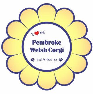 I Love My Pembroke Welsh Corgi (Male Dog) Photo Sculpture Decoration