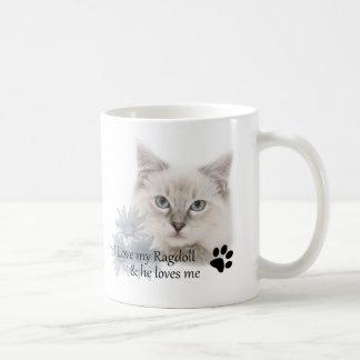 I love my ragdoll basic white mug