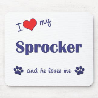 I Love My Sprocker (Male Dog) Mouse Pad