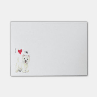 I Love my Westie Post-it® Notes