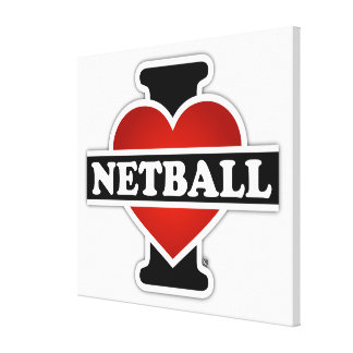I Love Netball Gallery Wrap Canvas