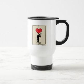 I Love Orcs Stainless Steel Travel Mug