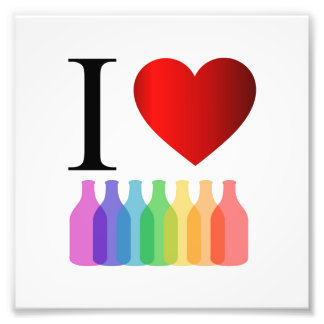 I love party or alcohol photographic print