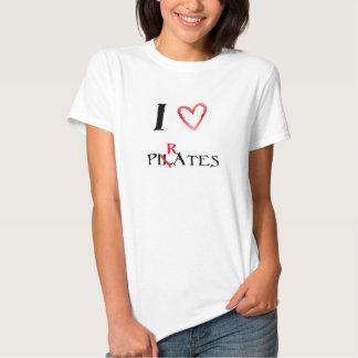 I love pilates - pirates tee shirt