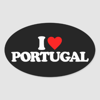 I LOVE PORTUGAL OVAL STICKER