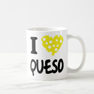 I love queso icon basic white mug