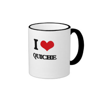 I Love Quiche Ringer Mug