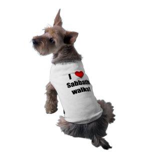 I Love Sabbath Walks - Dog Top Sleeveless Dog Shirt