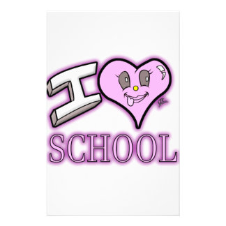 I Love School Design for Learners and Educators Personalized Stationery