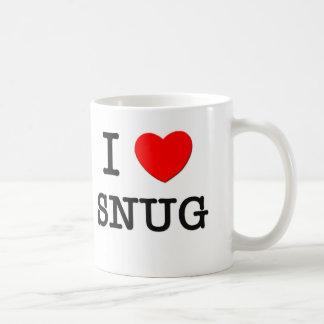I Love Snug Basic White Mug