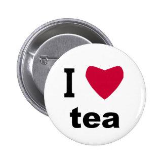 I Love Tea 6 Cm Round Badge