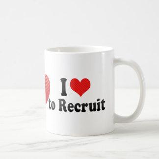 I Love to Recruit Basic White Mug