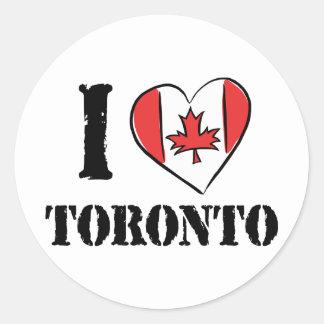 I Love Toronto Canada Round Sticker