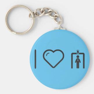 I Love TSA Basic Round Button Key Ring