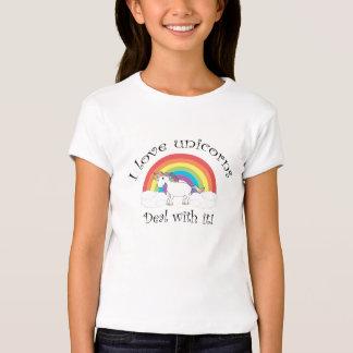 I love unicorns Deal with it! Tee Shirts