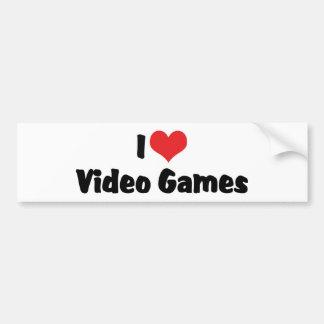 I Love Video Games Bumper Sticker