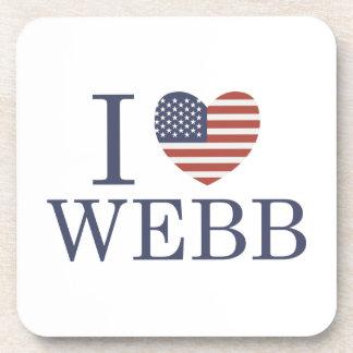 I Love Webb Coaster