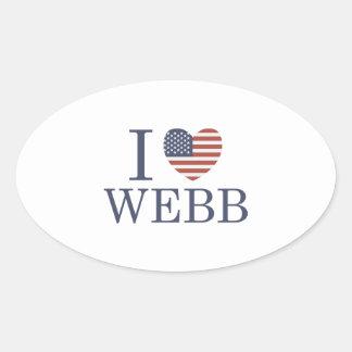 I Love Webb Oval Sticker