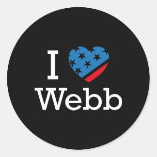 I Love Webb Round Sticker