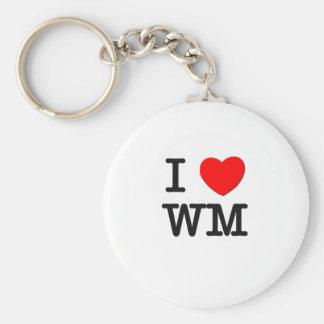 I Love Wm Basic Round Button Key Ring