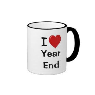 I Love Year End - I Heart Year End Ringer Mug