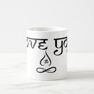 I love yoga basic white mug