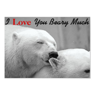 I Love You Beary Much Funny Valentines Day Cards 13 Cm X 18 Cm Invitation Card