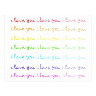 i love you i love you i love you postcard