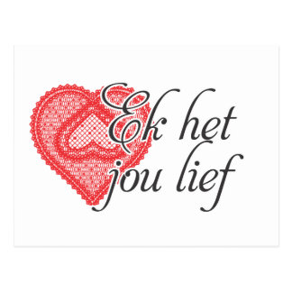 I love you in Afrikaans Postcard