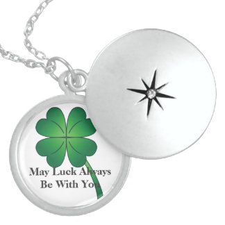 I LOVE YOU MOM Irish Lucky Sterling Silver LOCKET