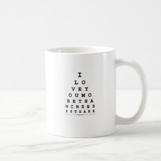 I Love You More Than Cheese Steak Basic White Mug
