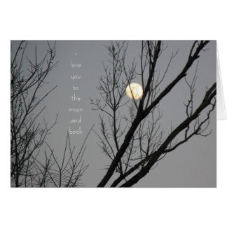 I love you to the moon and back, blank inside greeting card