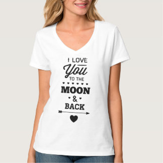 I Love You To The Moon And Back Shirt