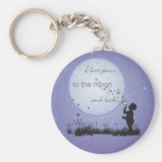 I Love You to the Moon and Back-Unique Gifts Basic Round Button Key Ring