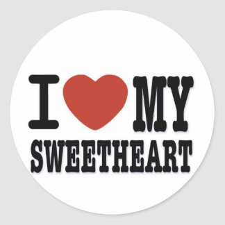 I LOVEMY SWEETHEART ROUND STICKER
