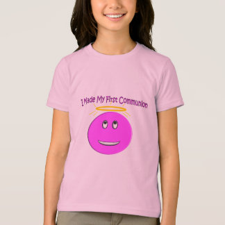 I Made My First Communion Big Pink Smiley Shirts