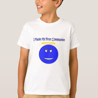 I Made My First Communion Blue Smiley Shirts