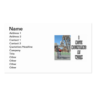 I Move Mountains At Work (Software Developer) Pack Of Standard Business Cards